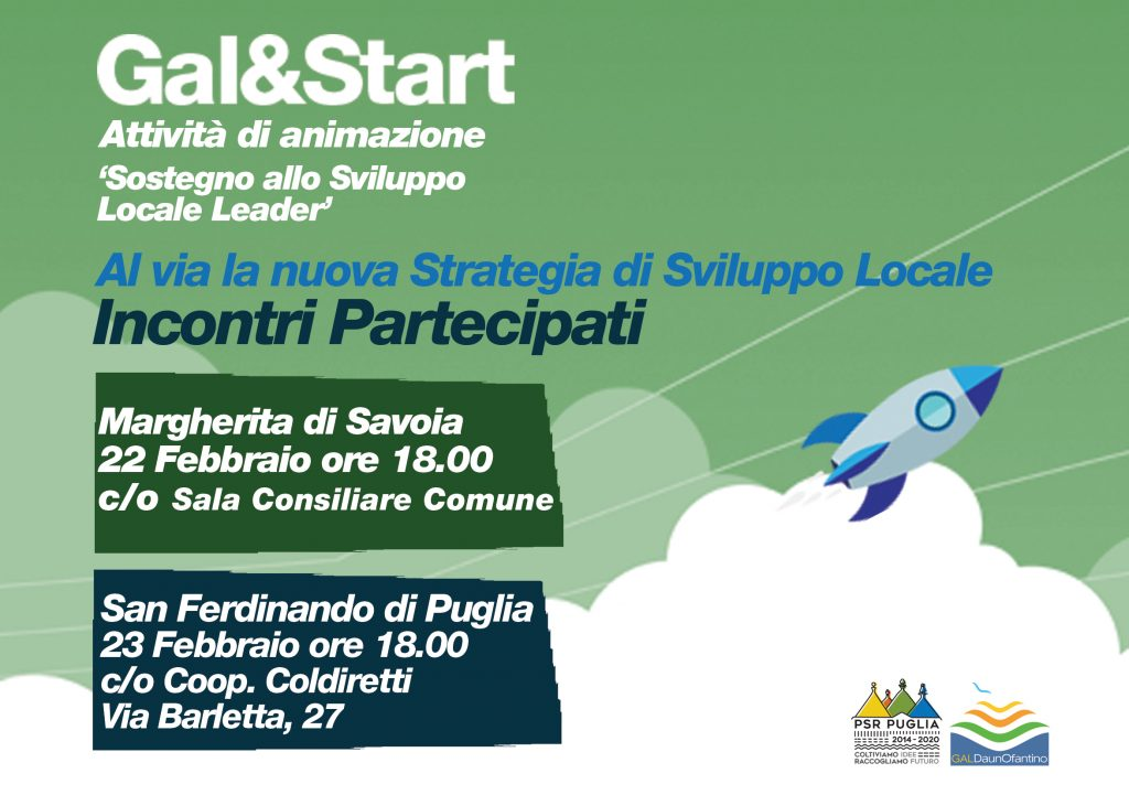 Incontri Partecipati Margherita e San Ferdinando di Puglia | Gal DaunOfantino