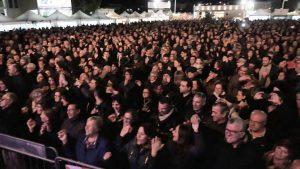pubblico concerto de I Cugini di Campagna a 55^ Fiera del Carciofo di San Ferdinando